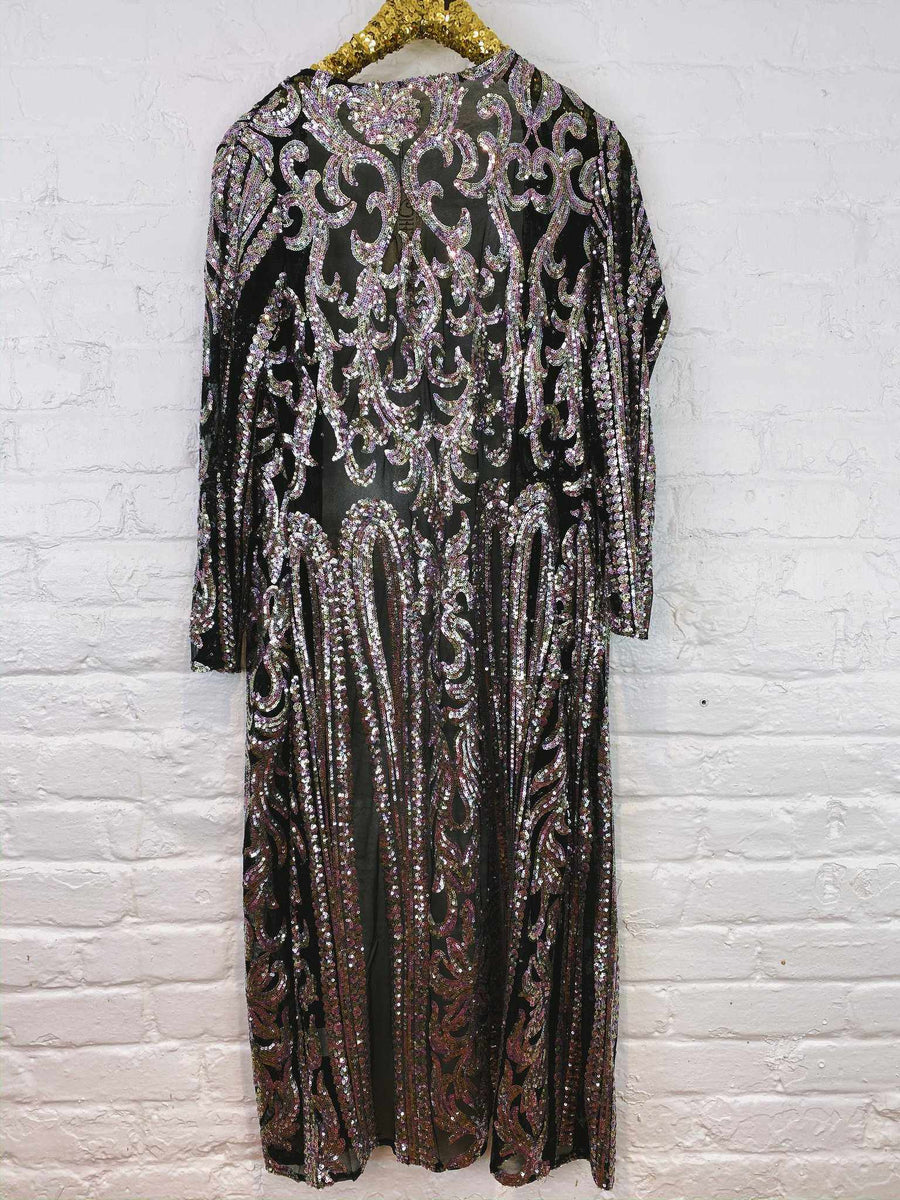 The Royal Sequin Duster - Purple