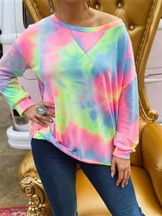 Tie Dye French Terry Pullover-Southern Fried Chics