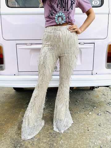 Vintage Chandelier Flare Pants-Southern Fried Chics
