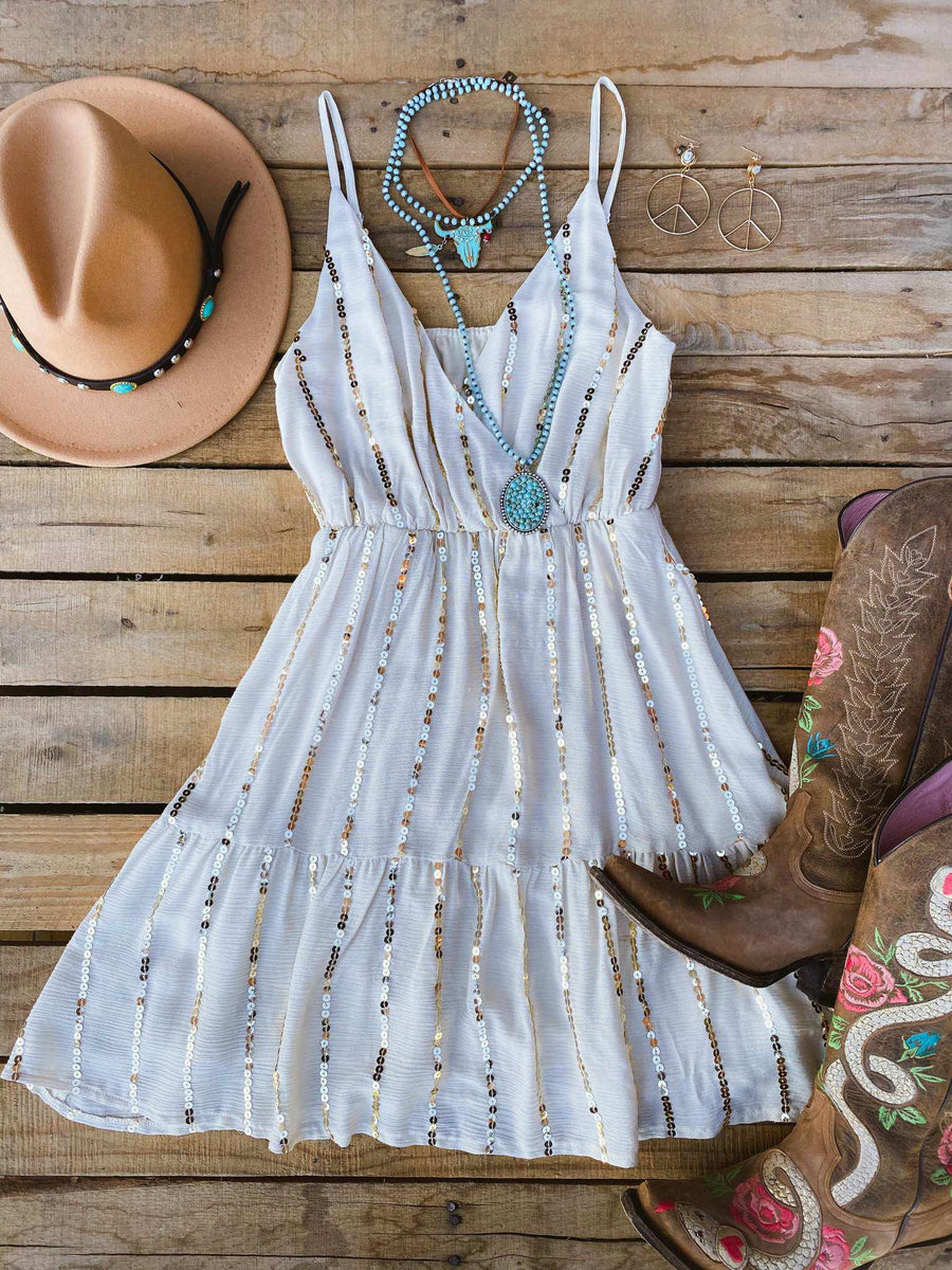 Walking Sunshine Party Dress-Southern Fried Chics