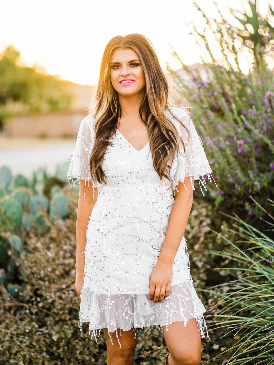 White Lightning Dress-Southern Fried Chics