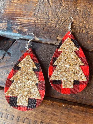 Make It A Jolly Holiday Earrings-Southern Fried Chics