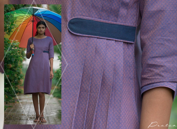Violet Side Pleated Dress