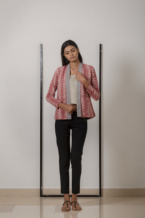 Pleated Jacket - Rose Shibori - noolbyhand.com