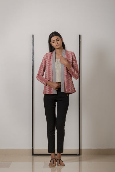 Pleated Jacket - Rose Shibori