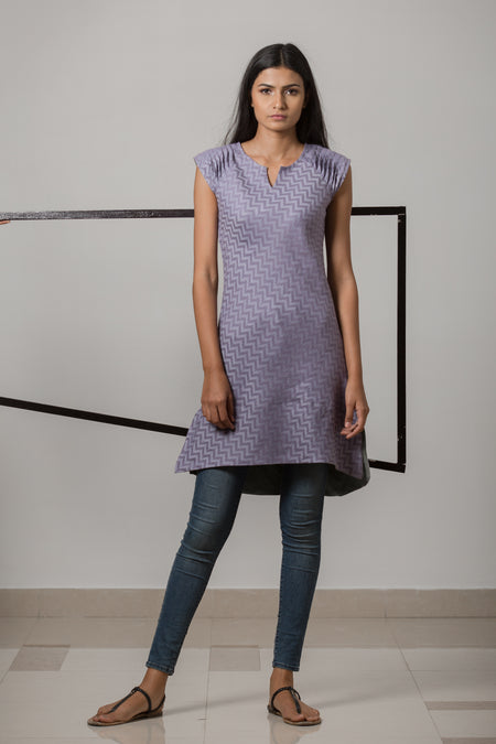 Pleated Dress - Rose Shibori