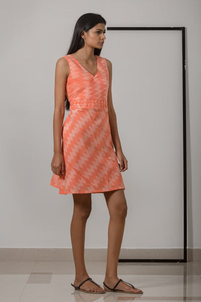 Bias Dress - Peach - noolbyhand.com