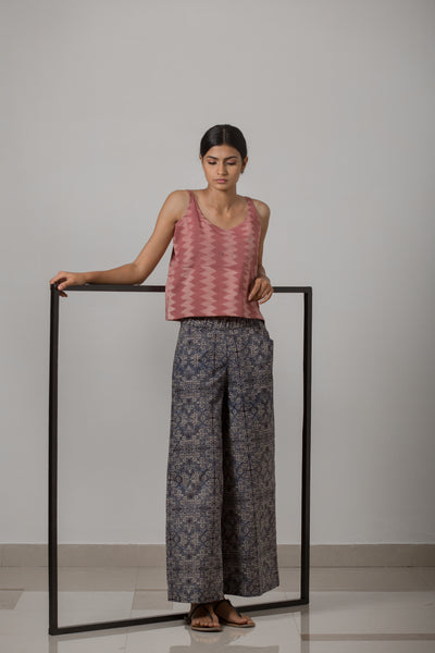 Wide Leg Pant - Indigo Blue