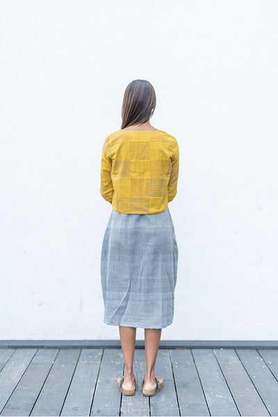 Yellow Patched Jacket - noolbyhand.com