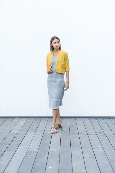 yellow Patched jacket. - noolbyhand.com