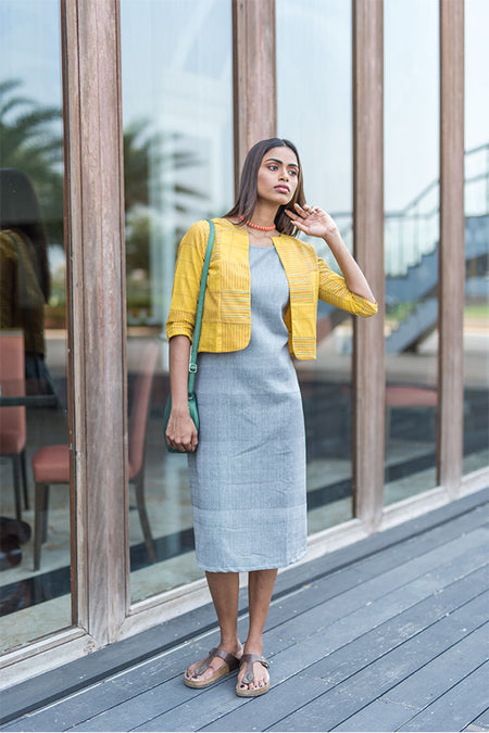 Grey and Maroon Kurti