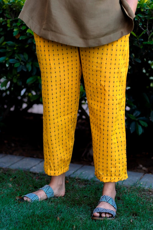Yellow Highwaist Pant - noolbyhand.com