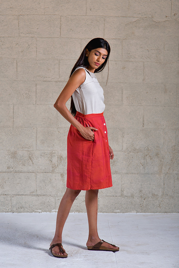 Skirt Red - noolbyhand.com