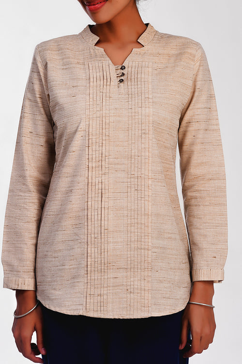 Christy Natural Flax Shirt - noolbyhand.com