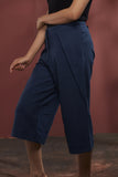 Cotton Alpha Denim Crop Pant - Indigo - noolbyhand.com