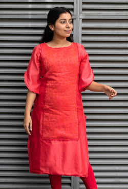 Red Ombre Frill Dress - noolbyhand.com