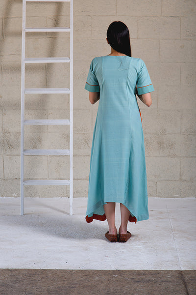Zia Asymmetrical Blue Dress