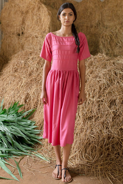 Gardenia - Pink Corded Dress