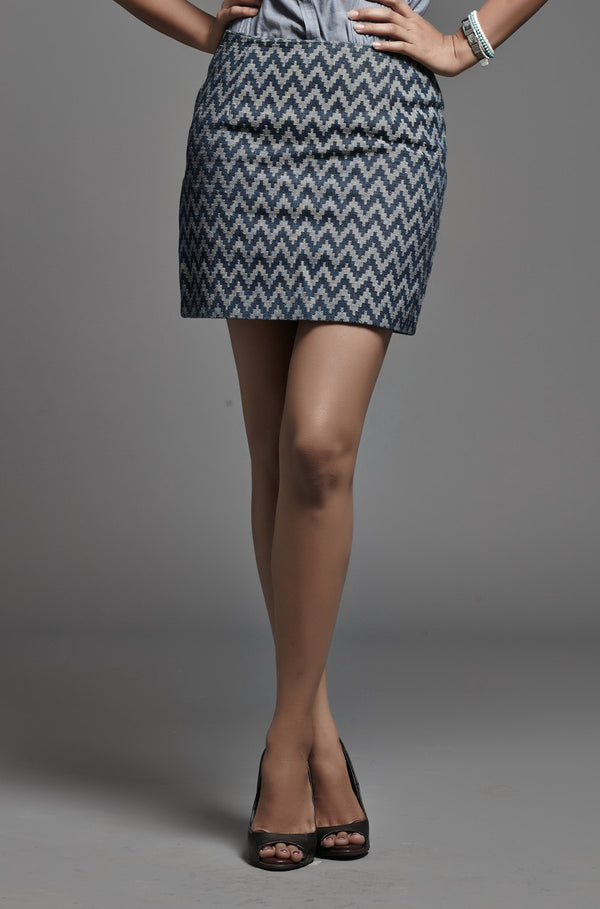 Denim Wave Skirt - noolbyhand.com