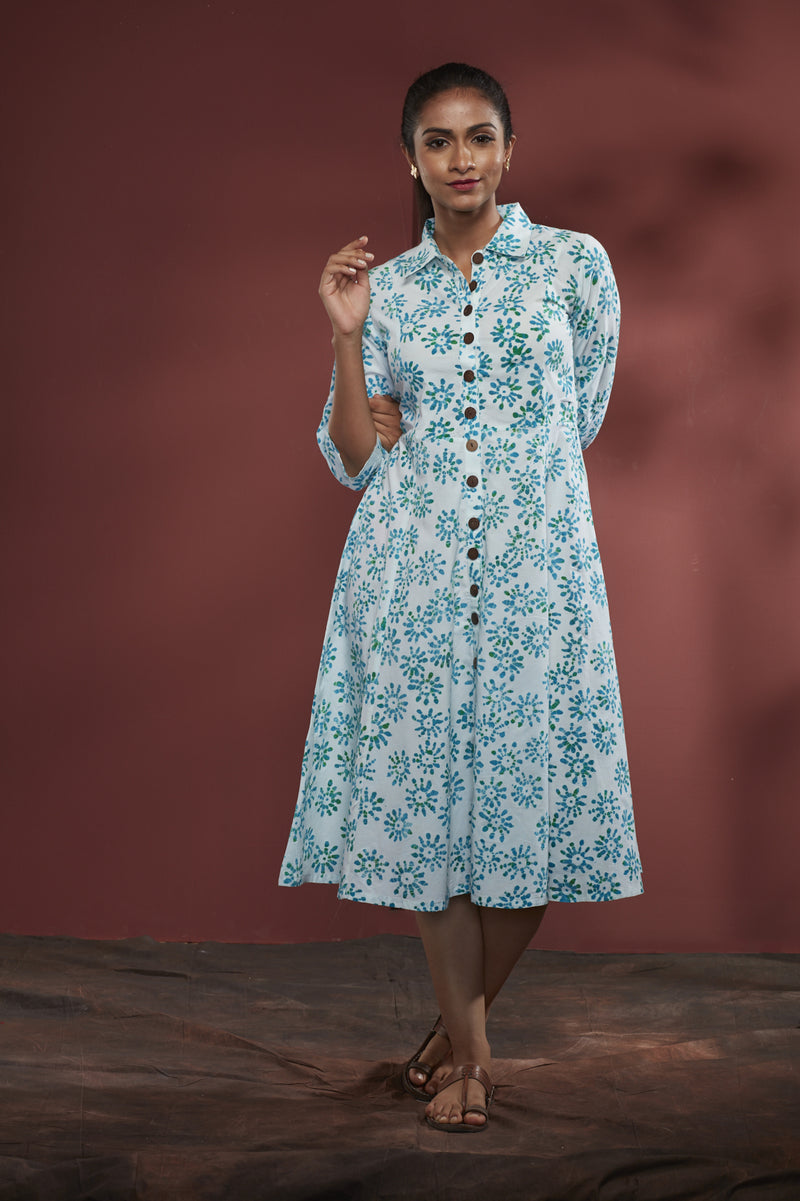 Cotton Floral Batik Dress - noolbyhand.com