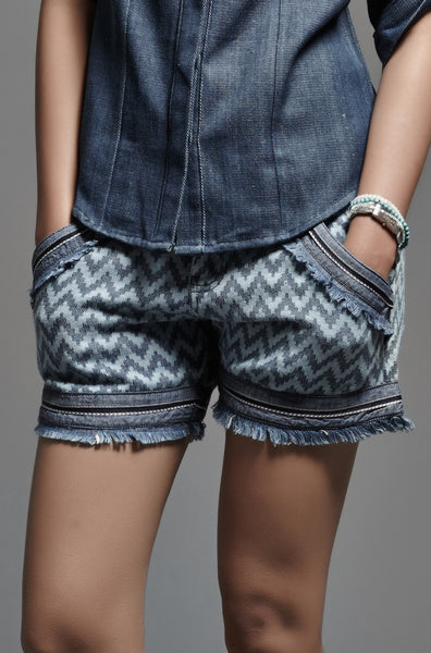Denim Wave Shorts - noolbyhand.com