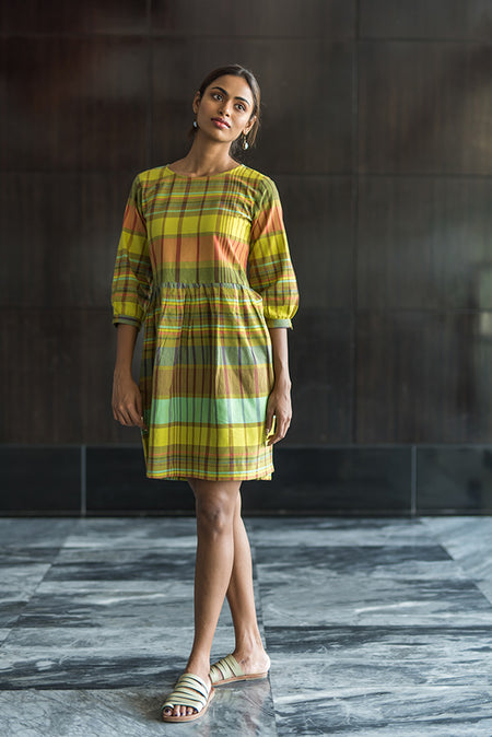 Tamarai cotton batik dress