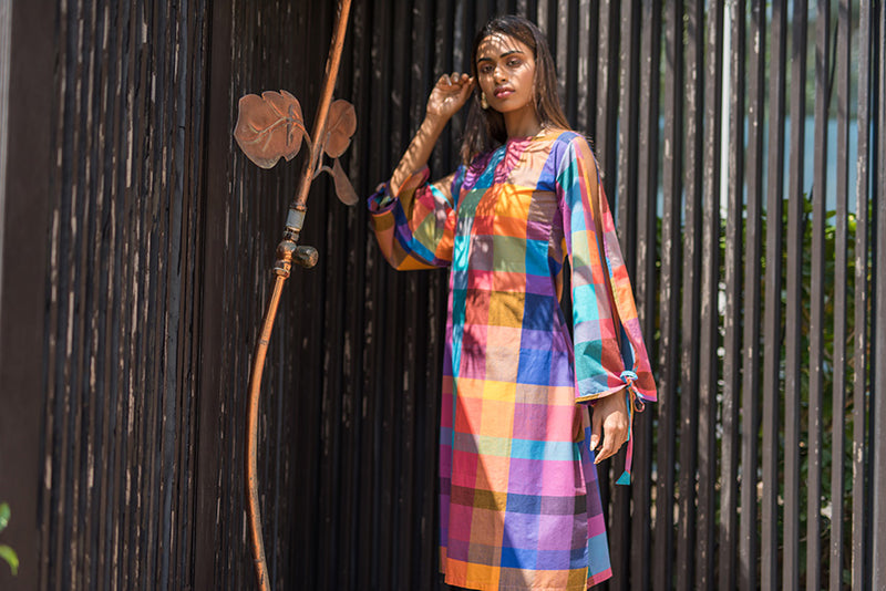 Chennai Check Dress. - noolbyhand.com