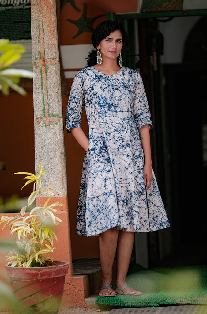 Tile Batik Print Dress - noolbyhand.com