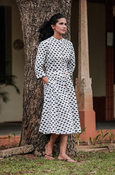 Tessy Houndstooth Dress