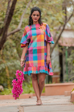 Madras Checkered Dress - noolbyhand.com