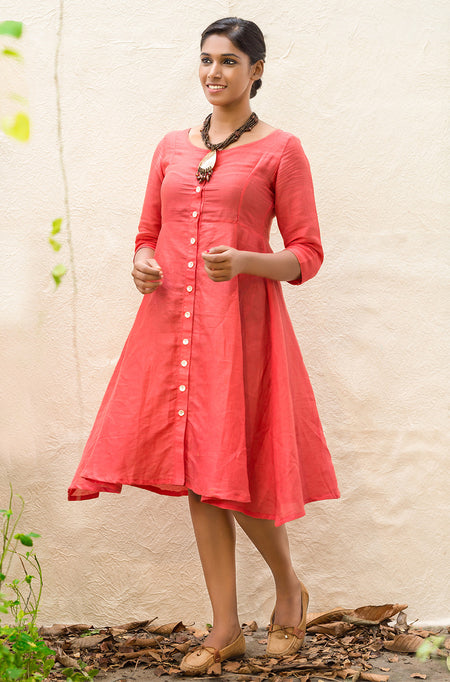 Lorraine Pink Cotton Linen Top
