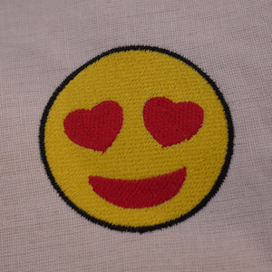 Heart Eyes Embroidery Emoji Design
