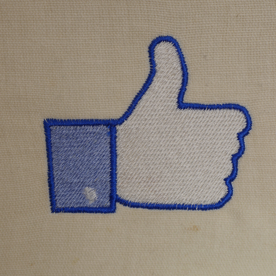 Facebook Thumbs Up Embroidery Design