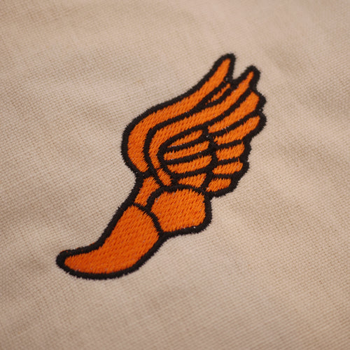 Track & Field Wingfoot Embroidery Design