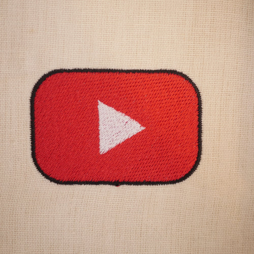 YouTube Play Button Embroidery Design