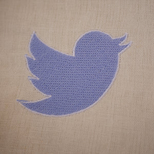 Twitter Embroidery Design
