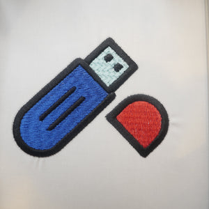 USB Flash Drive Embroidery Design
