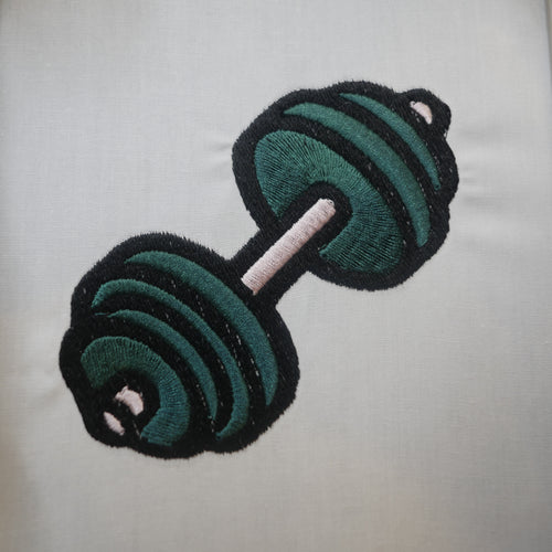 Dumbbell Embroidery design