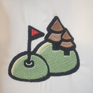 Golf Coarse Embroidery design