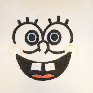 Sponge Bob Face Embroidery Design