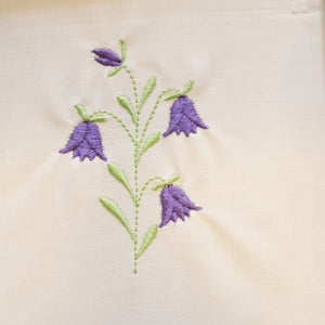 Blue Bell Flowers Embroidery Design