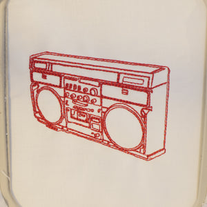 BoomBox Embroidery Design