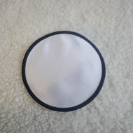 "Pack of 5   4"" White Circle with black border Sublimation Patches"