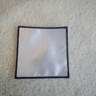 "Pack of 5   4"" White with Black Border Square Sublimation Patches"