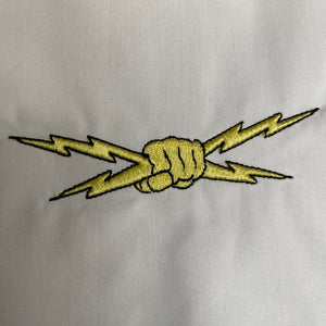 Lightning Bolt Hand Embroidery Design