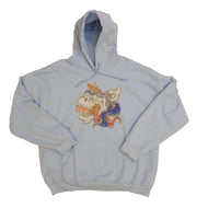 Light Blue Crazy Unicorn Hoodie