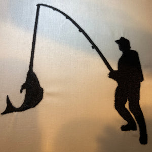 Fisherman Silhouette Design