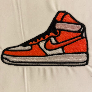 Airf-orce One HighTop  Sneaker Embroidery Design
