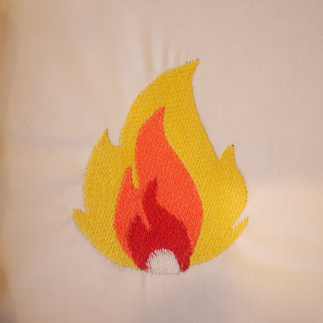 Fire Flame Embroidery Design