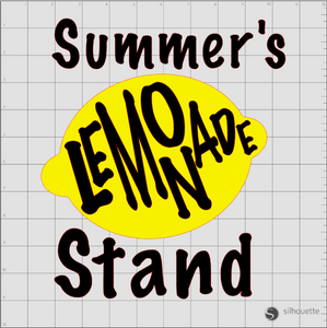 Silhouette Cameo Lemonade Design